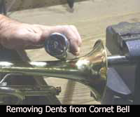 Removing dents from Cornet Bell